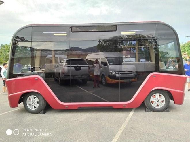 Xe VinBus có thiết kế khá đặc biệt. Ảnh:Báo Thanh Niên