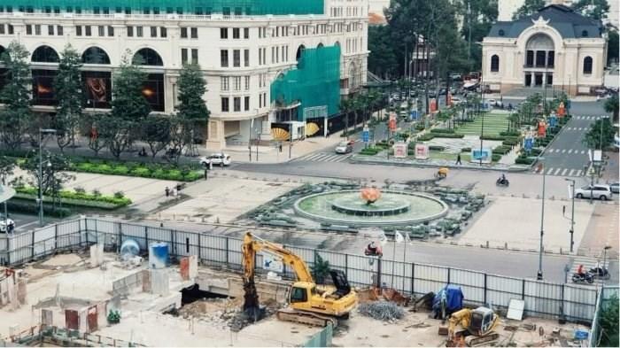 Công trường ga Nhà hát Thành phố sắp được hoàn thành