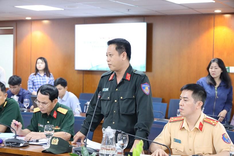 Trung tá Nguyễn Thành Nguyên - Phó Trung đoàn trưởng Trung đoàn Cảnh sát cơ động, Công an TP