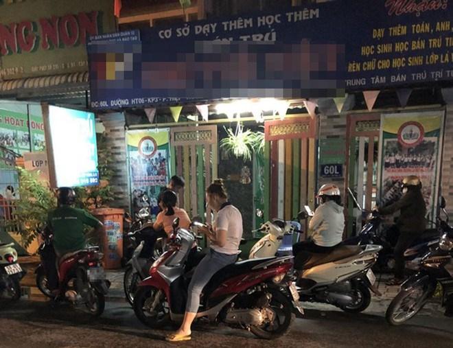 Một cơ sở vệ tinh bán trú ở Q.12, nơi được nhiều giáo viên của một trường tiểu học công lập gần đó thuê phòng mở lớp dạy thêm. Ảnh: Nguyễn Loan
