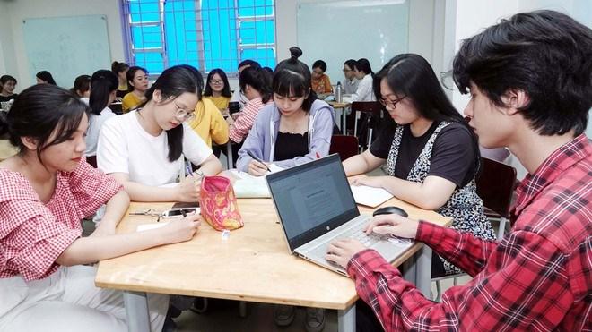 Sinh viên tại TP.HCM trong giờ học tiếng AnhĐÀO NGỌC THẠCH