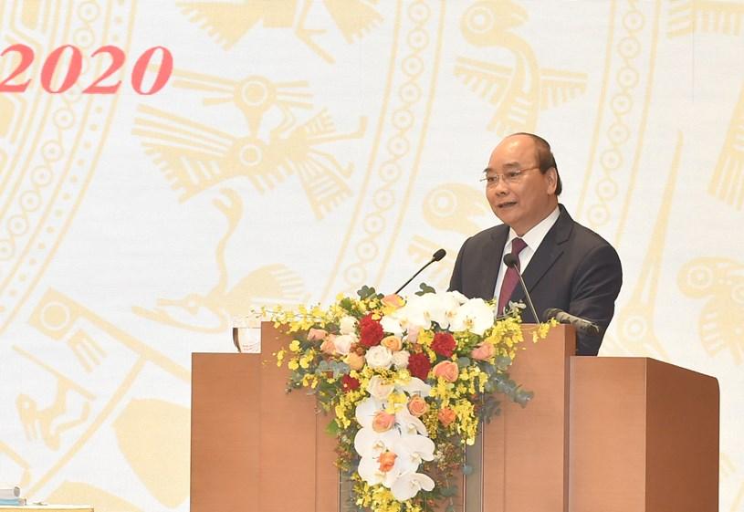 Thủ tướng Chính phủ Nguyễn Xuân Phúc khai mạc hội nghị. Ảnh: VGP